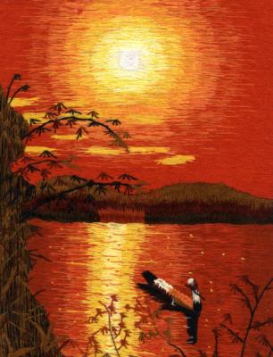 kasin-kirjottu-auringonlasku-vietnamilainen-tyo