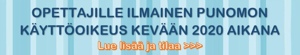 Ilmainen lisenssi kevät 2020 - Käsityön opetuksen oppimateriaalia - Punomo.fi