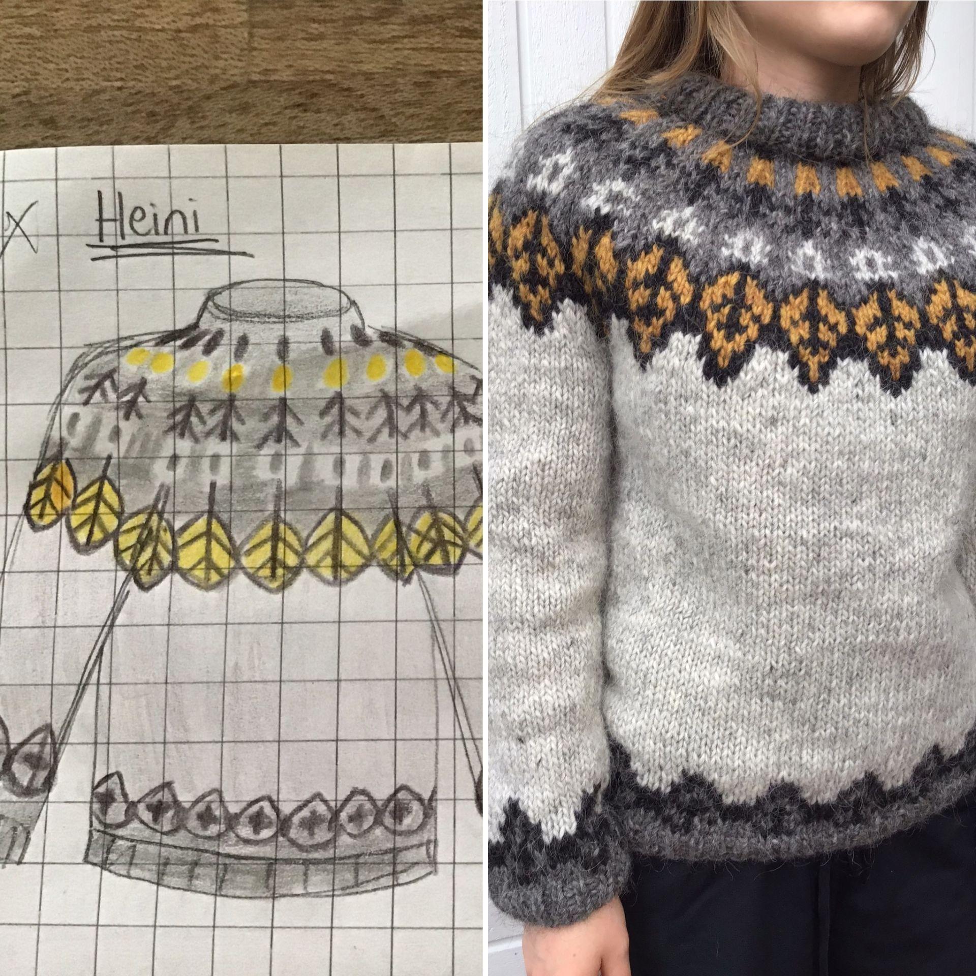 islantilaiset kaarrokeneuleet - kaarrokepaidan suunnittelu